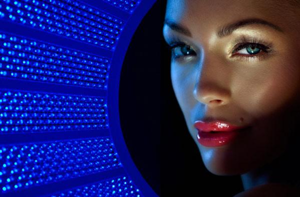 Blue light facial treatment speak
