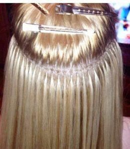 Blond Keratin Tip Extensions